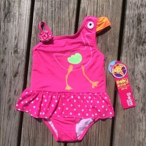 NWT One Piece Flamingo Swimsuit